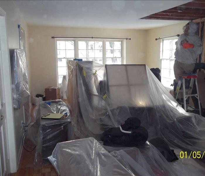 General SERVPRO of Ravenswood Protects Clients' Belongings