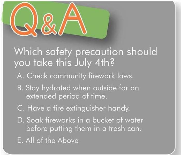 A short list of safety tips surrounding fireworks