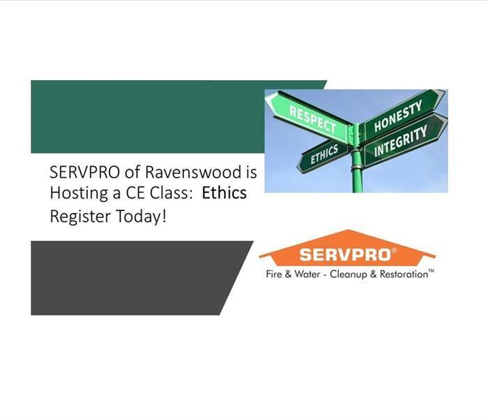 This is a banner announcing the course with a picture of the Servpro logo