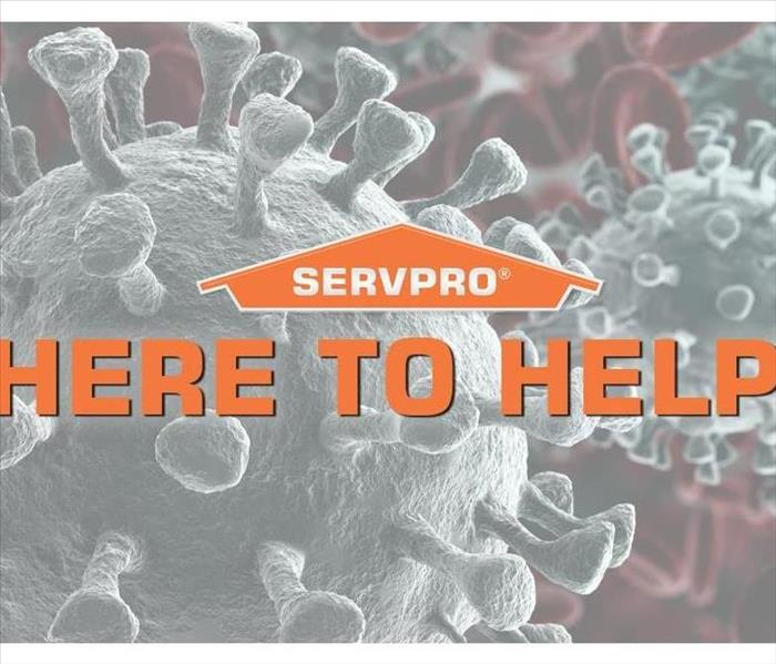 Logo with description of coronavirus service